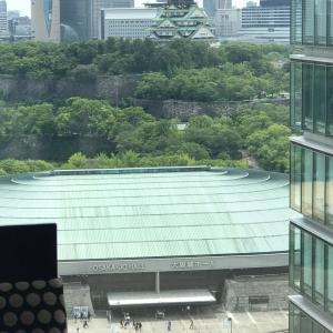 老舗ホテルから「大阪城」
