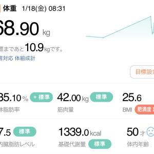 【再ダイエット10日目】1/18→月曜断食(10日目・美食)