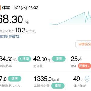 【再ダイエット15日目】1/23→リセダイ(2日目)