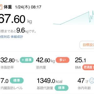 【再ダイエット16日目】1/24→リセダイ(3日目)