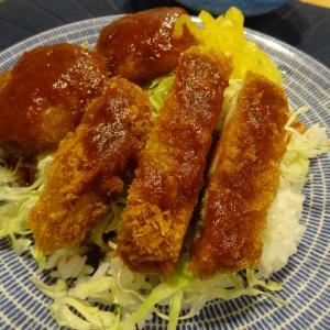 ソースカツ丼の夕ごはん