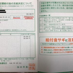 6月13日(土)の発電実績。19時の時間帯発電を更新。特別定額給付金を頂きました。