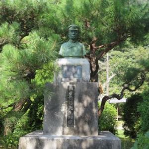 岩国の旅(31)田中穂積の胸像と歌碑