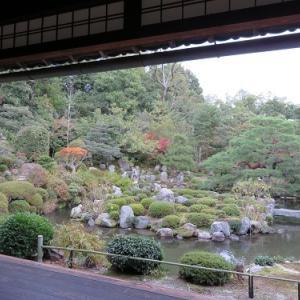 足利将軍菩提寺の等持院(3) 夢窓疎石作と伝わる庭園