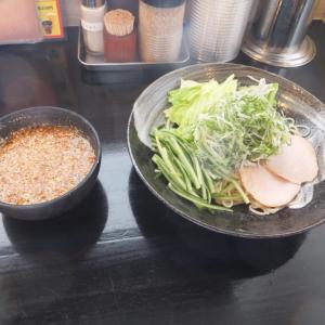 広島市安佐南区八木・ばくだん屋八木店にて、廣島つけ麺の昼食。