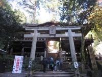 鞍馬寺(25)由岐神社 鳥居~割拝殿
