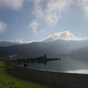 河口湖、西湖、精進湖ポタリング