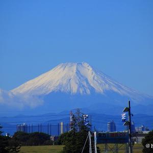 羽倉橋から富士山を・・・さいたま市桜区♪