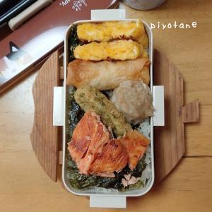 ピヨチビのお弁当42☆鮭海苔弁