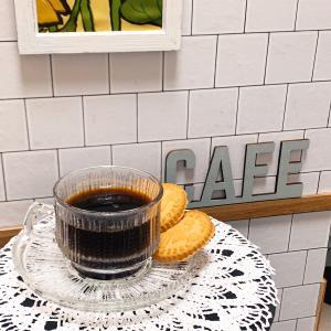 レトロな曽我ガラスのカップ&ソーサーでお茶タイム♪