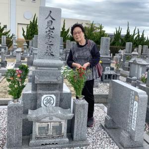 第2,450回(2019.10.19)相棒どのの月命日、長女と墓参りに行く!