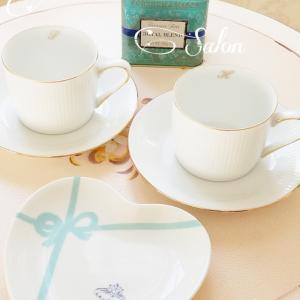 ティファニーで朝食を~ カップ&ソーサーとハートプレート♡生徒様とティータイム