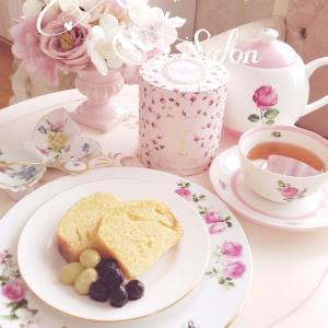 休日はラデュレの紅茶とパウンドケーキで~ ♡ お友達とオンラインお茶会