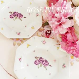 薔薇のプレートで素敵な毎日 ♡ フィレンツェのティーとフルーツスイーツでティータイム