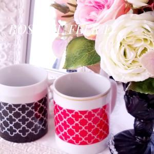 オシャレなクロッカン柄のマグカップ ♡ 来月はサロンでティータイム