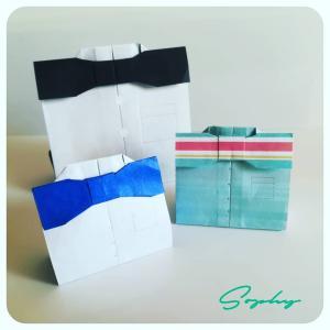 蝶ネクタイのパッケージ(おりがみ)