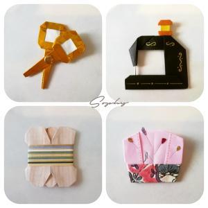 裁縫道具たち(おりがみ)