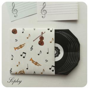 レコード盤メッセージカード(おりがみ)