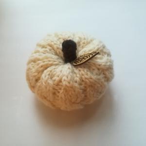 縄編みのかぼちゃ