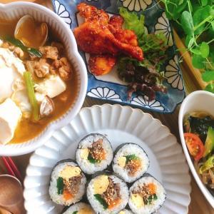 作ってみたい人気メニューレッスン✨✨キンパ〜韓国のり巻き〜お弁当にもぴったりです❣️