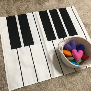 布鍵盤とフェルトの小物