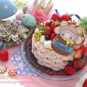 いちご盛り盛り♡マイメロのチョコケーキ♡