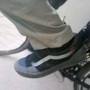 自転車通勤用の靴