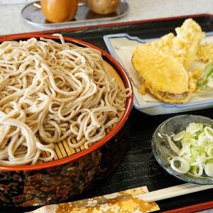【もも木】ザルそば+天ぷら【カフェマッカリズム】ソフトクリーム