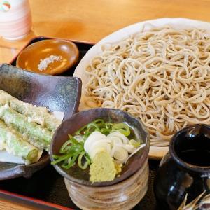 【そば哲】もり+アスパラの天ぷら【モンタンベール】チョコロールケーキ