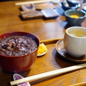 【円山茶寮】温いぜんざい【蕎麦・立ち飲み一味】かき揚げ蕎麦