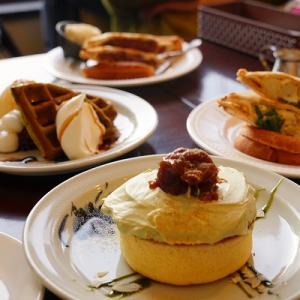 【そば処ふうび】えび天ざるそば【サッポロ珈琲館】抹茶のホットケーキ