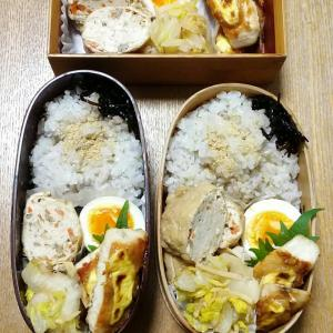 鶏挽き肉のお揚げ包みの煮物とかじきの味噌マヨ焼き