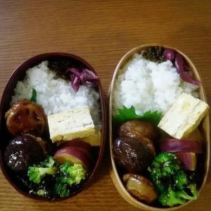椎茸とれんこんの肉詰め照り焼き