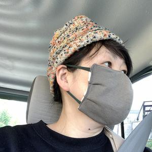 試作マスクでお買い物、ながっぽの散歩と。