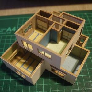クレヨンしんちゃんの家模型:2階完成
