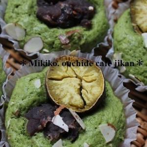 チーズクリームin餡子と焼き芋の抹茶のマフィン