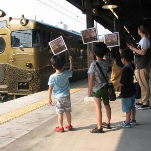 「或る列車」が門司港駅にやってきました。