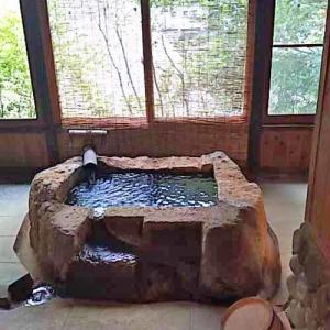 おひとりさま癒しの温泉三昧の旅 鹿児島・忘れの里雅叙苑 お風呂リビング