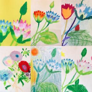 花の画家ルドゥーテの模写