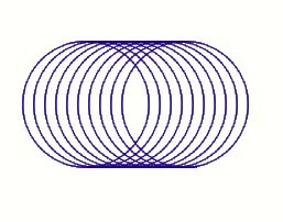 パソコンで図形を描いてみよう(11)(円の応用)