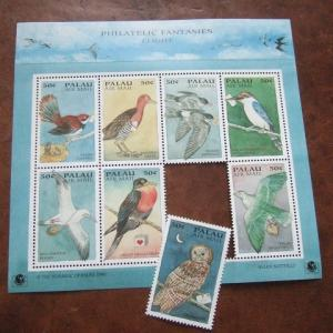 鳥と手紙の切手