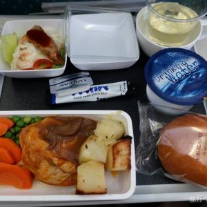 機内食 SQ620 鶏むね肉のきのこソース