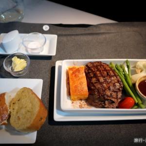 機内食 JL712(SIN-NRT)  ビーフテンダーロインステーキ ビジネスクラス