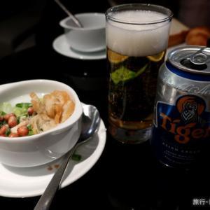 シンガポール空港でラウンジ朝食
