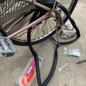 還暦にして人生初の自転車パンク修理