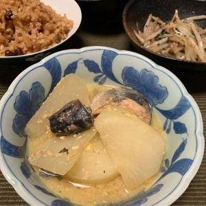 サバ缶と大根の味噌煮
