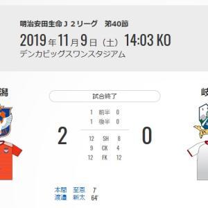 第40節 vsアルビレックス新潟