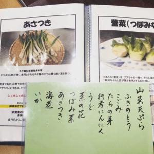 山菜天ぷらとそば米が食べれるのは手打ちそば龍瓶