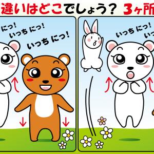 #23 クマとウサギのイラストで【間違い探し】