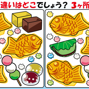 #36 和菓子のイラストで【間違い探し】